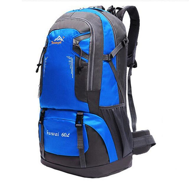 60L Waterproof Oxford Outdoor Backpack Super High Quality Camping Backpacks-gigibaobao-Blue Color-Bargain Bait Box