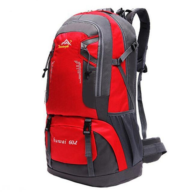 60L Waterproof Oxford Outdoor Backpack Super High Quality Camping Backpacks-gigibaobao-Red Color-Bargain Bait Box
