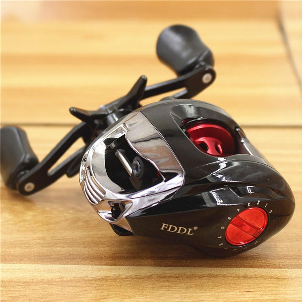 6+1 Ball Bearings Right/Left Hand Baitcasting Reel Metal Line Cup Fishing Fly-Baitcasting Reels-duo dian Store-Left-Bargain Bait Box