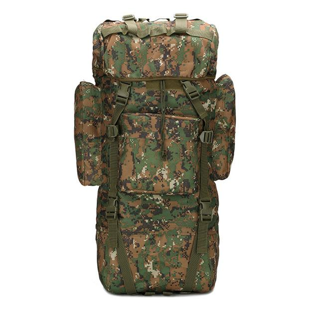65L Large Capacity Bag Camping Bag Waterproof Cover Camo Backpack Fishing Bag-Backpacks-Bargain Bait Box-Jungle Digital-Bargain Bait Box