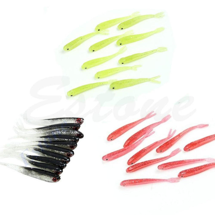 6Pcs/Lot 75Mm 2.2G Soft Tiddler Bait Fluke Fishing Saltwater Tackle-Jerk Baits-Bargain Bait Box-Bargain Bait Box