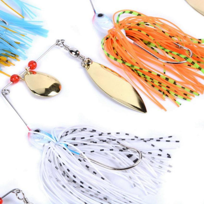 6Pcs/Set 16G Fishing Tackle 6 Color Spoon Lures Spinner Lure For Fishing Bait-Spinnerbaits-Bargain Bait Box-Bargain Bait Box