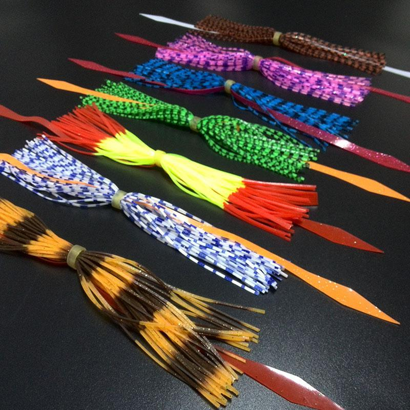 7 Bundles 40Streands With Ribbon Silicone Skirts Diy Spinnerbatis Buzzbaits-Skirts & Beards-Bargain Bait Box-Bargain Bait Box