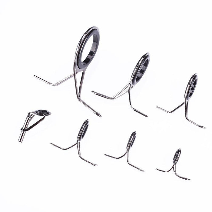 7 Pcs Oval Fishing Tips Rod Guides Ring Stainless Pole Fishing Kit-Fishing Rod Guides & Tips-Bargain Bait Box-Bargain Bait Box