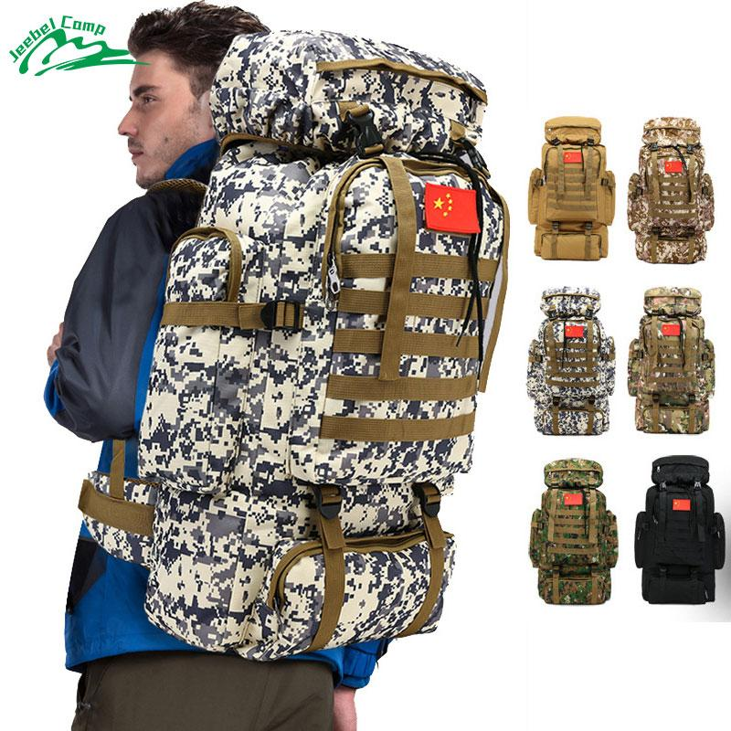 70L 600D Camping Hiking Mountaineering Backpack Military Molle Camo Waterproof-Climbing Bags-Jeebel Camp Official Store-1-50 - 70L-Bargain Bait Box