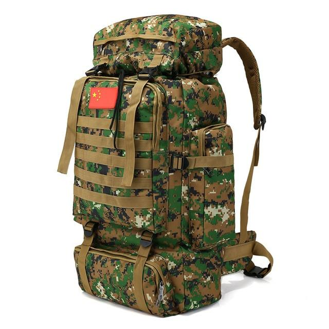70L 600D Camping Hiking Mountaineering Backpack Military Molle Camo Waterproof-Climbing Bags-Jeebel Camp Official Store-4-50 - 70L-Bargain Bait Box