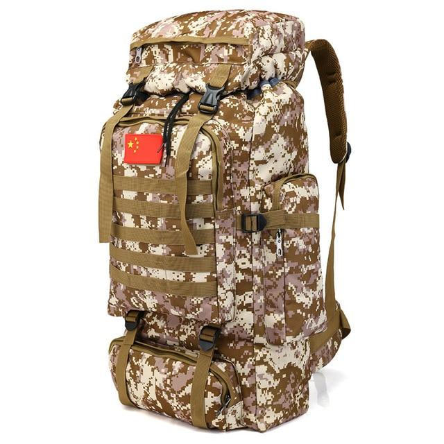 70L 600D Camping Hiking Mountaineering Backpack Military Molle Camo Waterproof-Climbing Bags-Jeebel Camp Official Store-6-50 - 70L-Bargain Bait Box