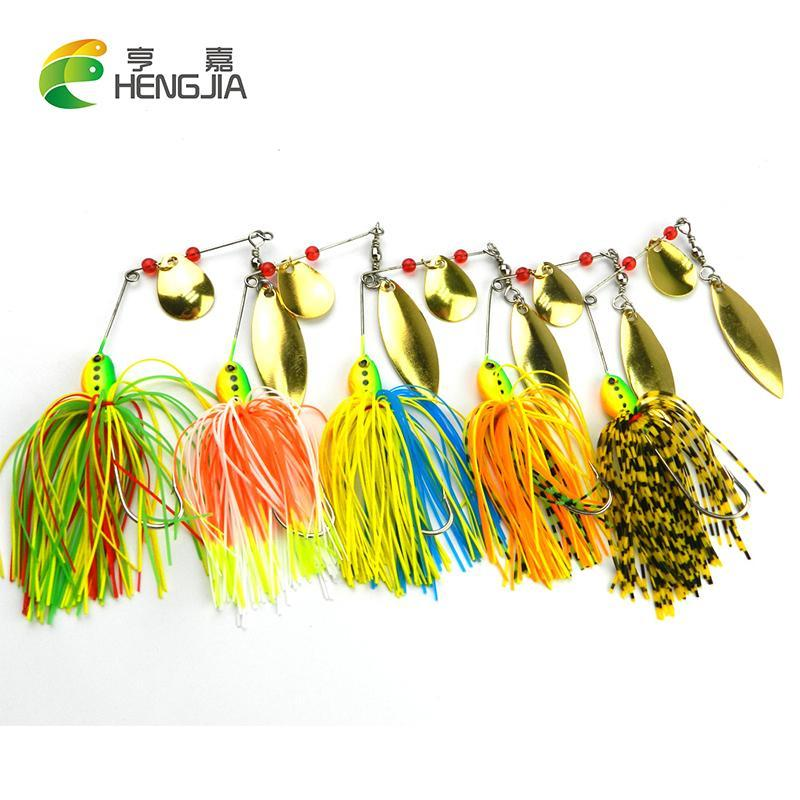 7Pcs Spinnerbait Metal Sequins Lures Silicone Skirt Jig Spinner Beard Tackle-Spinnerbaits-Bargain Bait Box-Bargain Bait Box