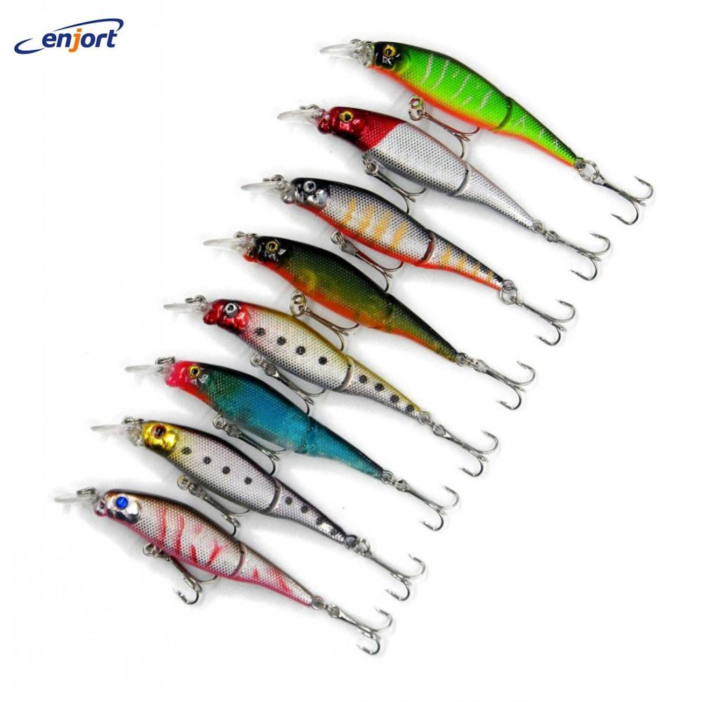 8 Colors Jointed 9Cm-7.6G Hard Bait Tools Fish Hook Tackle Minnow S-Hard Swimbaits-Bargain Bait Box-Bargain Bait Box