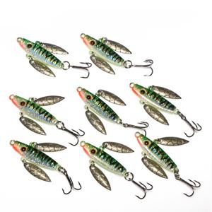 8 Pcs 7G 5Cm Spoon Bait Ice Fishing Jig Fishing Tackle 4 Color Available-Jigging Spoons-Bargain Bait Box-Green-Bargain Bait Box