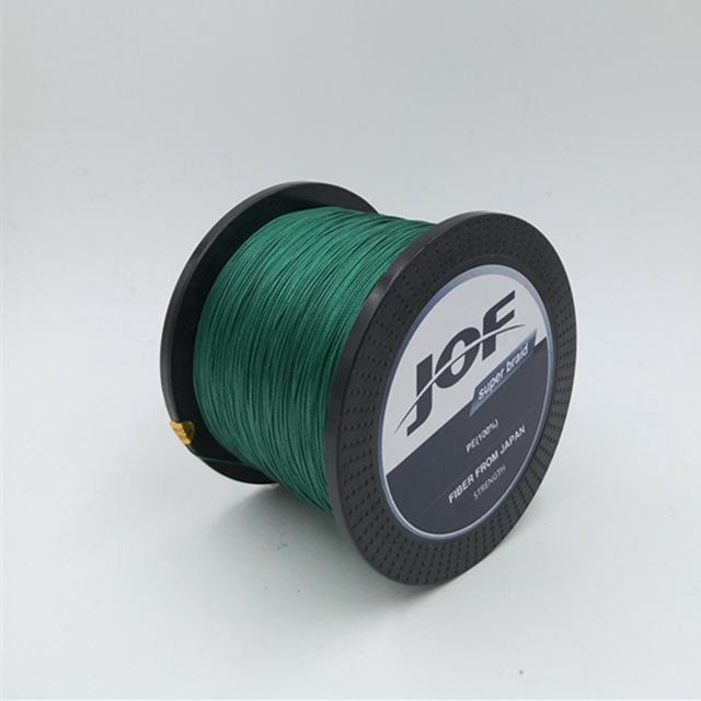 8 Strands 1000M Jof Brand Super Strong Japan Multifilament Pe Braided Fishing-Thanksgiving Family-JOF8P1000green-1.0-Bargain Bait Box