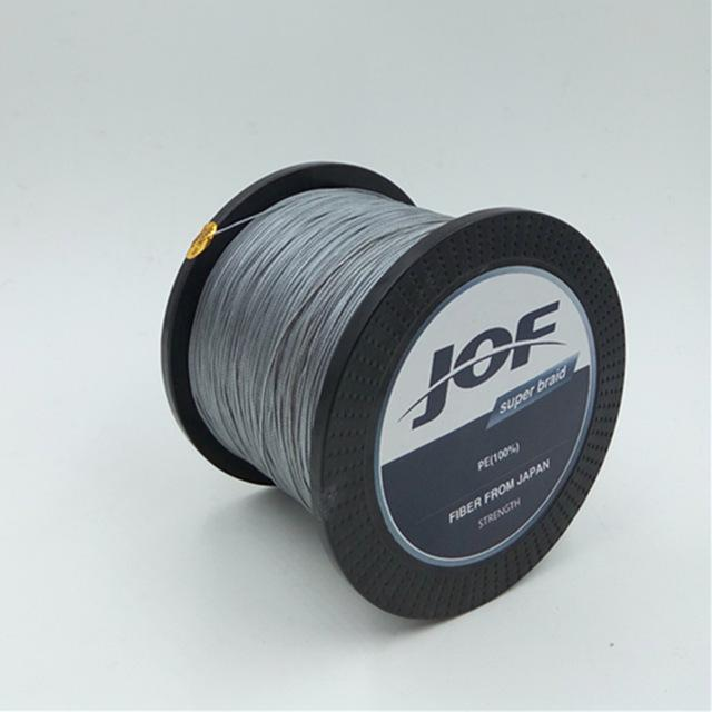 8 Strands 1000M Jof Brand Super Strong Japan Multifilament Pe Braided Fishing-Thanksgiving Family-JOF8P1000grey-1.0-Bargain Bait Box