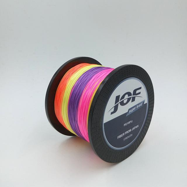 8 Strands 1000M Jof Brand Super Strong Japan Multifilament Pe Braided Fishing-Thanksgiving Family-JOF8P1000mulicolor-1.0-Bargain Bait Box