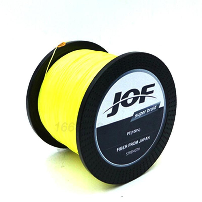 8 Strands 1000M Jof Brand Super Strong Japan Multifilament Pe Braided Fishing-Thanksgiving Family-JOF8P1000yellow-1.0-Bargain Bait Box