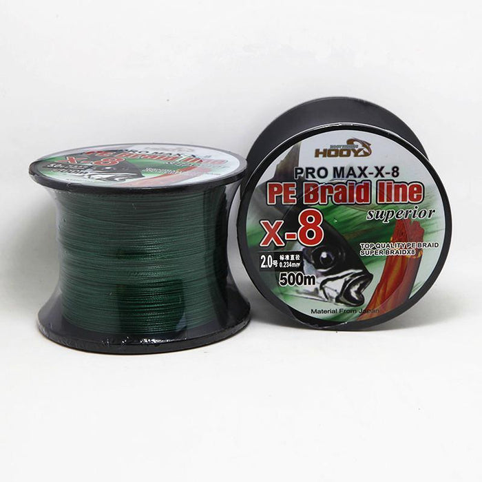8 Strands Pe Braided Fishing Line 500M Quick Sinking Pe Fishing Line Black White-FIZZ Official Store-White-0.6-Bargain Bait Box