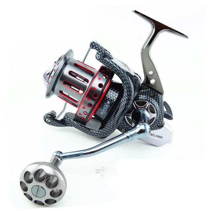8000-12000 Large Spool Ball Bearings Full Metal Spoon Spinning Fishing Reel-Spinning Reels-Sequoia Outdoor Co., Ltd-Gold-Bargain Bait Box