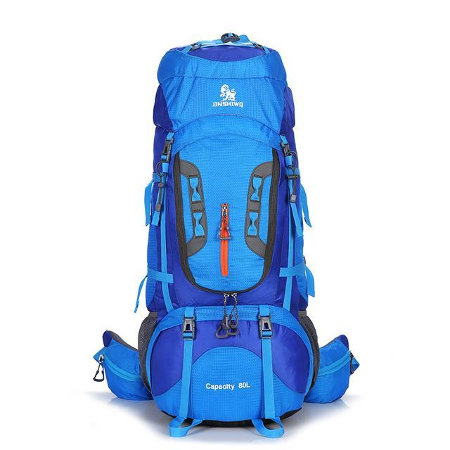 80L Large Capacity Outdoor Backpack Camping Travel Bag Professional Hiking-Dream outdoor Store-Blue A-Bargain Bait Box