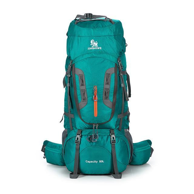 80L Large Capacity Outdoor Backpack Camping Travel Bag Professional Hiking-Dream outdoor Store-Green A-Bargain Bait Box