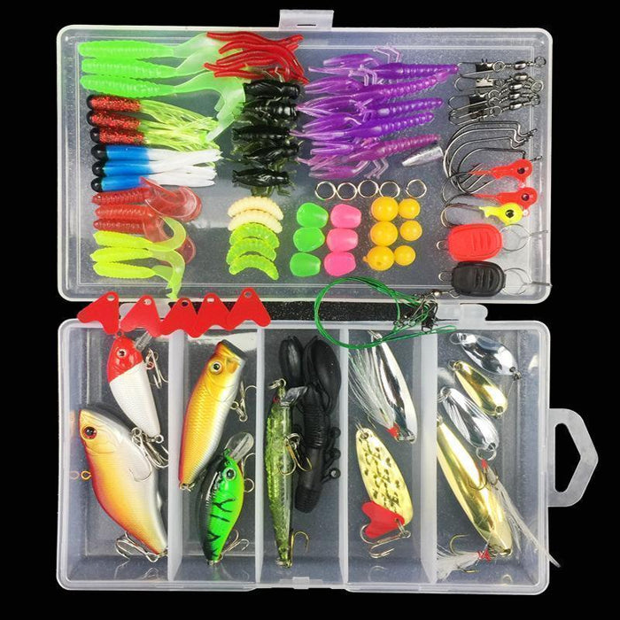 88Pcs Almighty Fishing Kit Hard And Soft Baits Minnow Popper Vib Sequin Hook-Mixed Combos & Kits-Bargain Bait Box-Bargain Bait Box