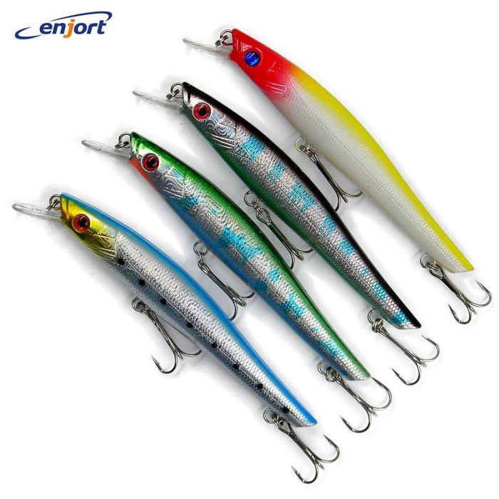 8Pcs Big Game Fishing Lures 14.5Cm-18G-2# Hooks Minnow Wobbler Pesca-Musky & Pike Baits-Bargain Bait Box-Bargain Bait Box