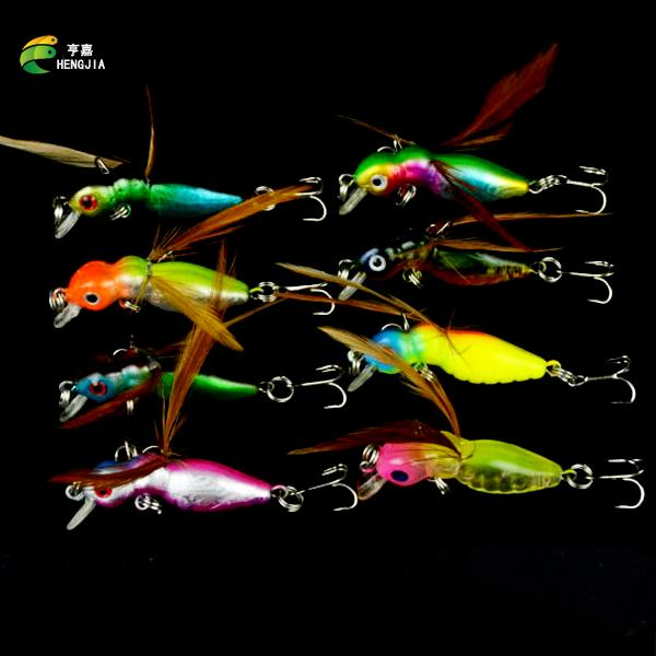 8Pcs/Lot Lure Flies Set 4.5Cm 3.2G 8 Colors Lures Kit-Hard Bait Kits-Bargain Bait Box-Bargain Bait Box