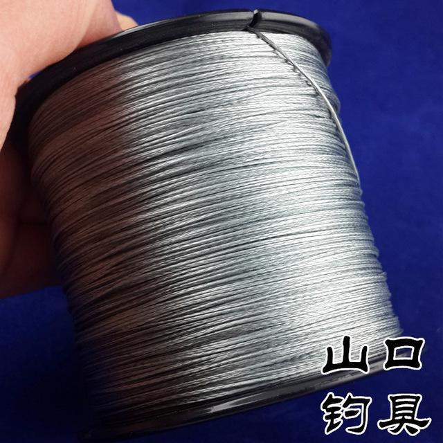 8Strands 500M Sunko Brand Japanese Multifilament Pe Material Braided Fishing-SUNKO Fishing Tackle Factory-Dark Grey-1.0-Bargain Bait Box