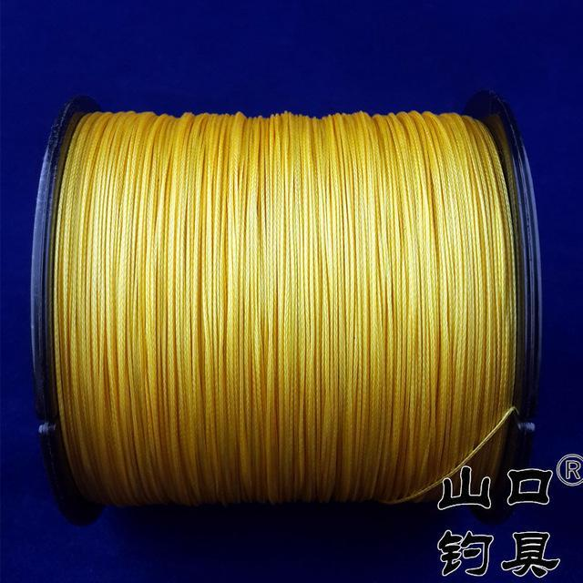 8Strands 500M Sunko Brand Japanese Multifilament Pe Material Braided Fishing-SUNKO Fishing Tackle Factory-Yellow-1.0-Bargain Bait Box