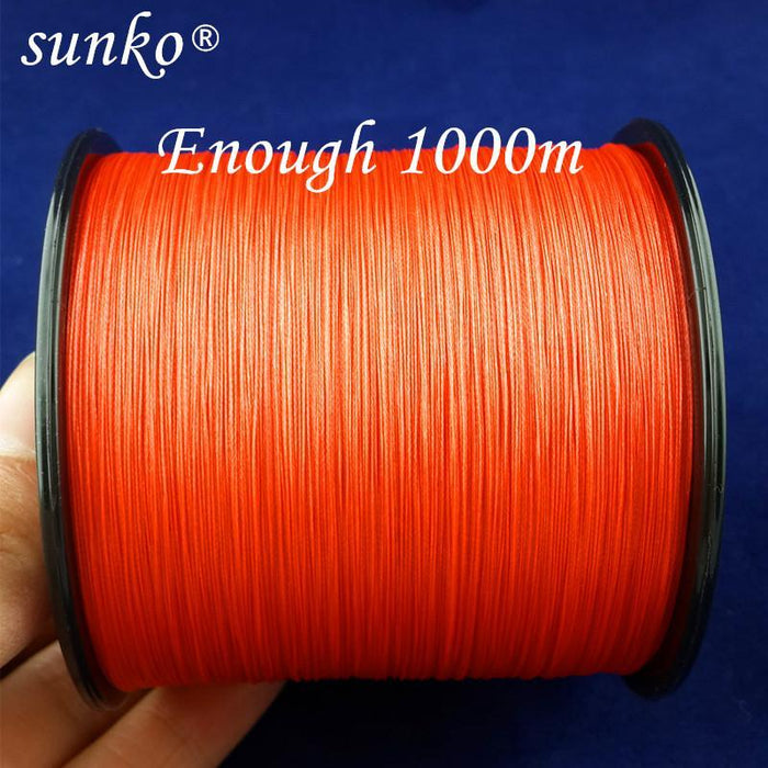 8Strands1000M Sunko Brand Super Strong Multifilament Pe Material Braided Fishing-SUNKO Fishing Tackle Factory-White-1.0-Bargain Bait Box