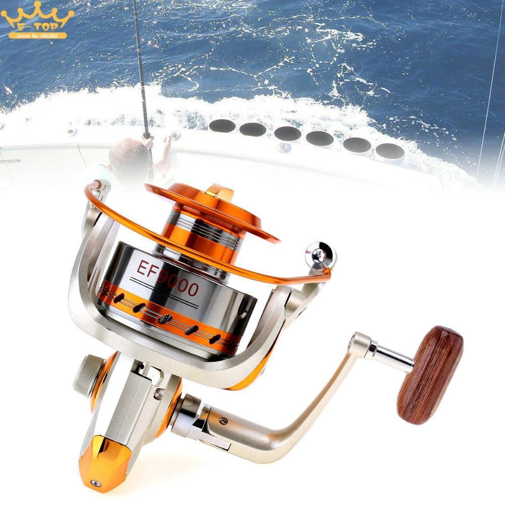 9000 Series 12Bb 4.1:1 Gear Ratio Trolling Long Shot Casting Spinning Fishing-Spinning Reels-LoveSport Store-Bargain Bait Box