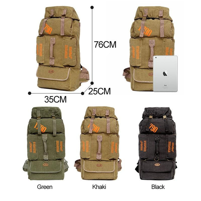 90L Capacity Large Outdoor Women Camping Backpacks Hiking Traveling Men Rucksack-Climbing Bags-Sexcer SOPEN Store-Green-Bargain Bait Box