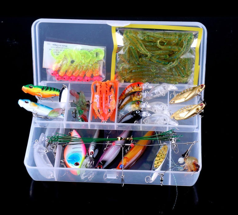 90Pcs Fishing Set Box Kit Fishing Blance Minnow Crank Bait Metal Vib Soft-Mixed Combos & Kits-Bargain Bait Box-Bargain Bait Box