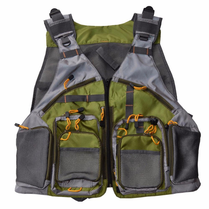 Adjustable Men And Women Fly Fishing Mesh Vest Medium Backpack Waistcoat Vest-Fishing Vests-Bargain Bait Box-Bargain Bait Box
