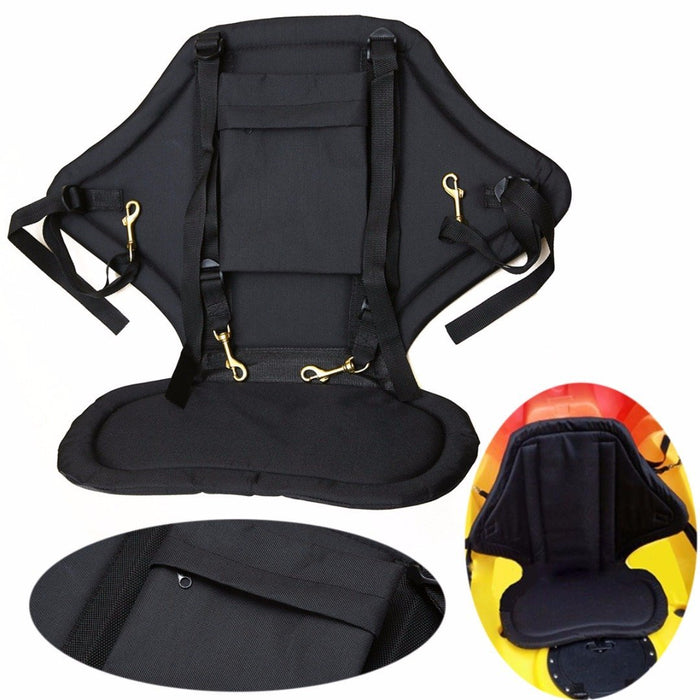 Adjustable Padded Kayak Seat Comfortable Pvc Cushion Fishing Canoe Backrest-Raft & Kayak Accessories-Bargain Bait Box-Bargain Bait Box