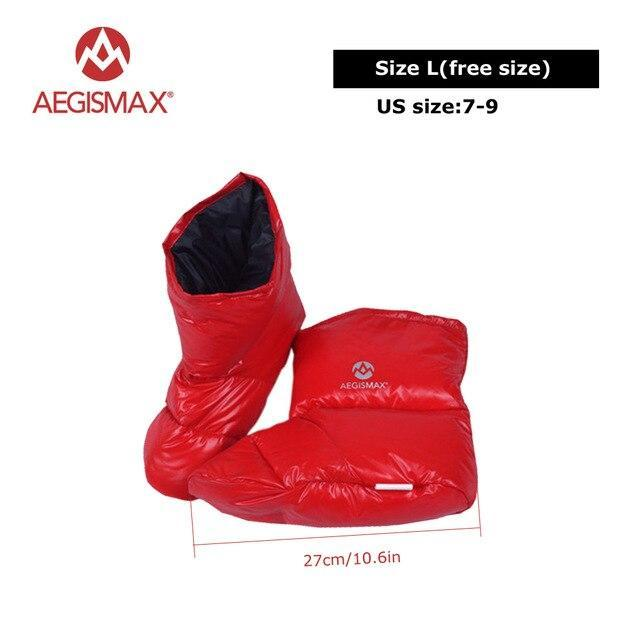 Aegismax Duck Down Slippers Shoes Bootees Boots Footwear Camping Feet Cover Warm-Sleeping Bags-YOUGLE store-L Red-Bargain Bait Box