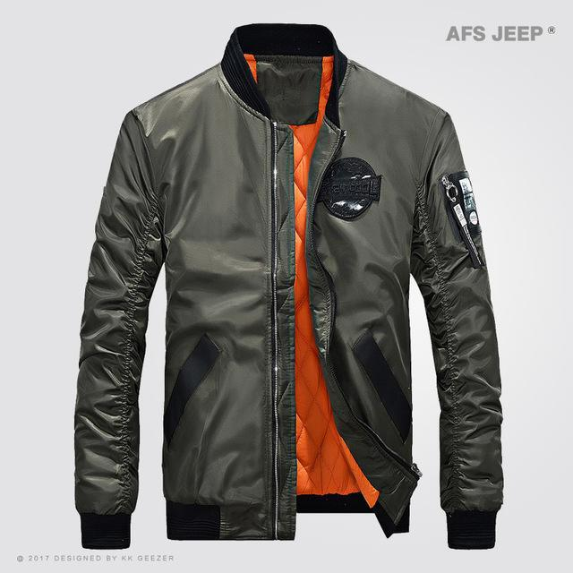 Afs Jeep Jacket Men Coat Light Jacket Comfort Bomber Outwear Camp Green Black-Jackets-Bargain Bait Box-Army Green-M-Bargain Bait Box