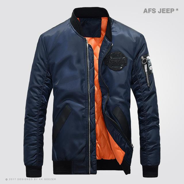 Afs Jeep Jacket Men Coat Light Jacket Comfort Bomber Outwear Camp Green Black-Jackets-Bargain Bait Box-Royal blue-M-Bargain Bait Box