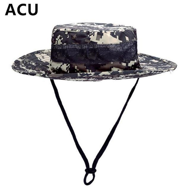 Airsoft Sniper Camo Boonie Hats, Tactical Nepalese Cap, Military Mens Fishing-Hats-Bargain Bait Box-ACU-Bargain Bait Box
