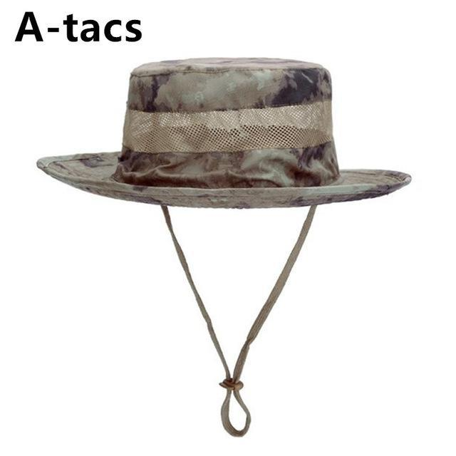 Airsoft Sniper Camo Boonie Hats, Tactical Nepalese Cap, Military Mens Fishing-Hats-Bargain Bait Box-Atacs-Bargain Bait Box