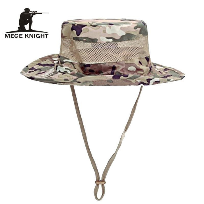 Airsoft Sniper Camo Boonie Hats, Tactical Nepalese Cap, Military Mens Fishing-Hats-Bargain Bait Box-Khaki-Bargain Bait Box