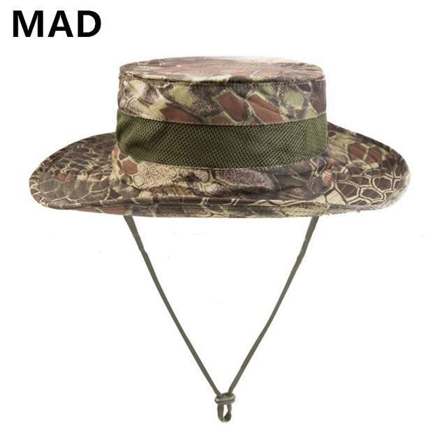 Airsoft Sniper Camo Boonie Hats, Tactical Nepalese Cap, Military Mens Fishing-Hats-Bargain Bait Box-MAD-Bargain Bait Box