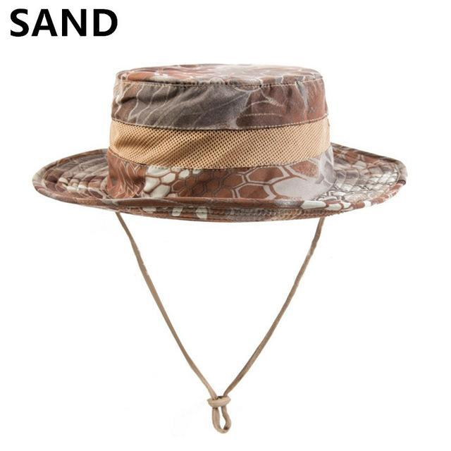 Airsoft Sniper Camo Boonie Hats, Tactical Nepalese Cap, Military Mens Fishing-Hats-Bargain Bait Box-SAND-Bargain Bait Box