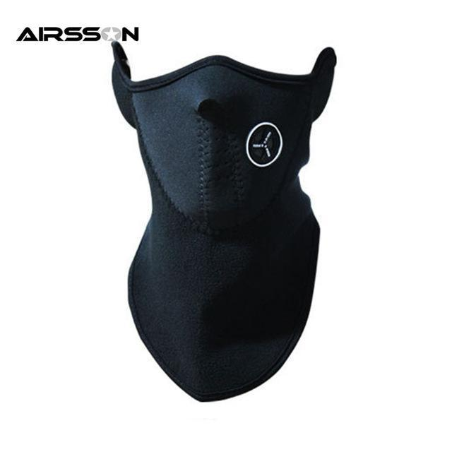 Airsoft Warm Fleece Bike Half Face Mask Cover Face Hood Protection Ski Sports-Masks-Bargain Bait Box-BK-Bargain Bait Box