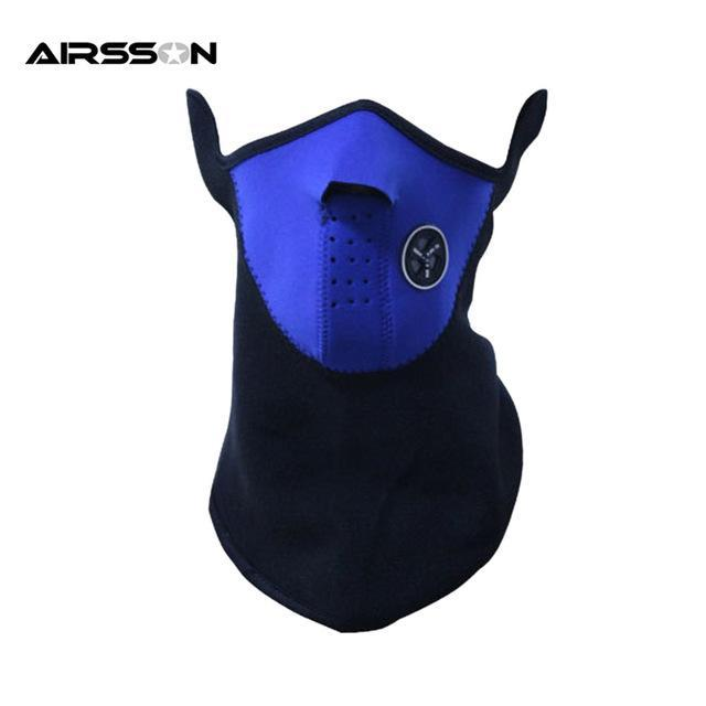 Airsoft Warm Fleece Bike Half Face Mask Cover Face Hood Protection Ski Sports-Masks-Bargain Bait Box-Blue-Bargain Bait Box