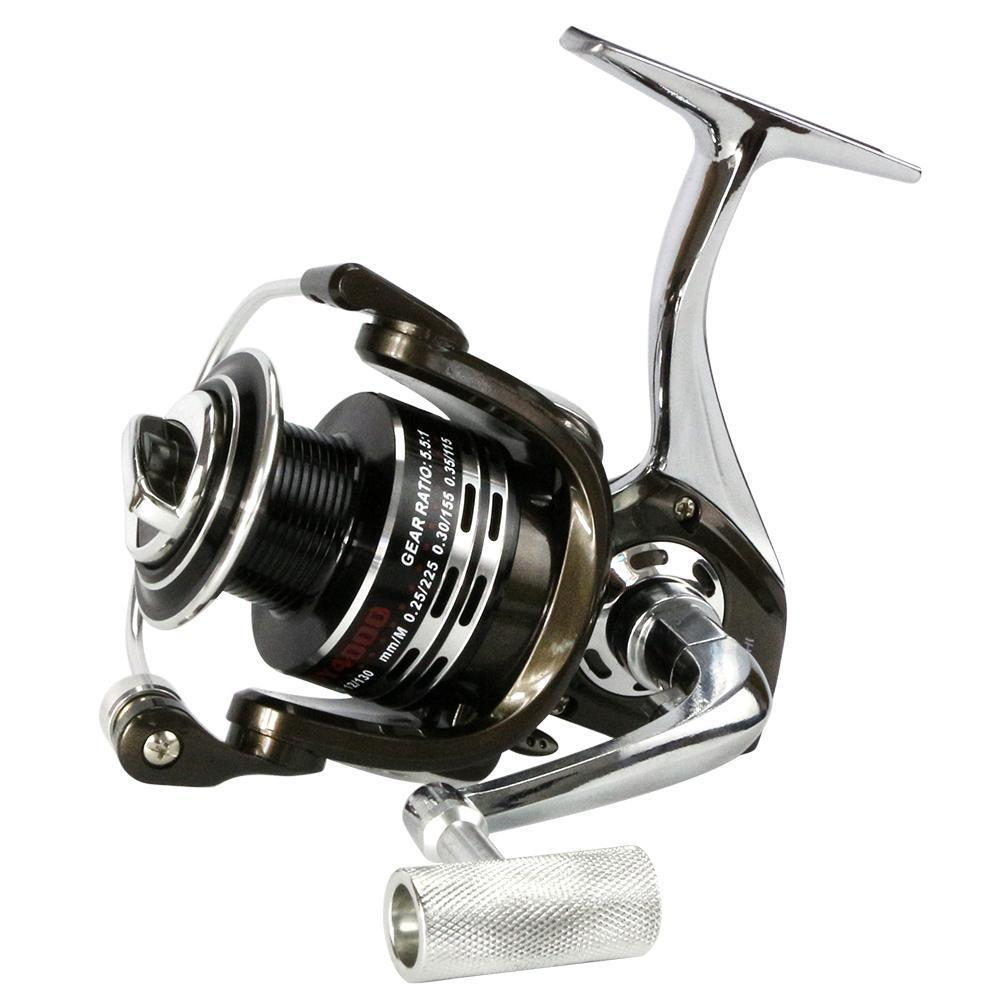 All Metal Spinning Fishing Reel By 12+1Bb Gapless Full Metal Spinning Reel-Spinning Reels-DAGEZI Store-1000 Series-Bargain Bait Box