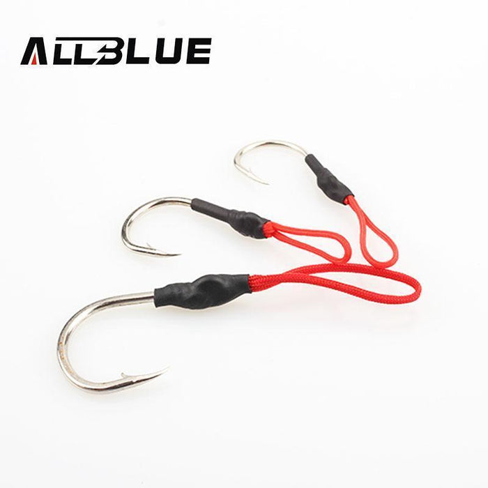 Allblue 10Pcs Stainless Steel Jigging Spoon Fishing Hook With Pe Line-allblue Official Store-1I0 Black-Bargain Bait Box