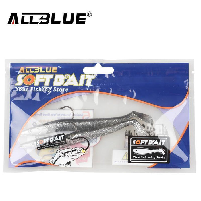 Allblue 2Pcs/Lot Jig Fish Head Sinking Fishing Lure 11Cm/21G Fresh Salt Water-allblue Official Store-Red Head-Bargain Bait Box