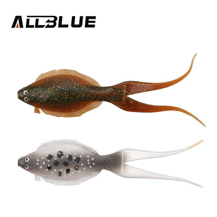 Allblue 3Pcs/Lot Soft Bait 12Cm/8G Flatfish Fishing Lure Soft Silicone Bait-allblue Official Store-Grey-Bargain Bait Box