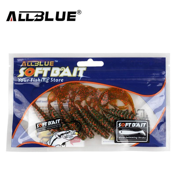 Allblue Creek Single Tail Soft Bait 3.2G/82Mm 8Pcs/Lot Biforked Grubs Silicone-allblue Official Store-Color A-Bargain Bait Box
