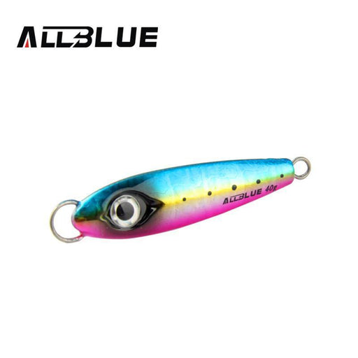 Allblue Metal Jigging Spoon 40G 3D Eyes Artificial Bait Boat Fishing Jig Spoon-allblue Official Store-A-Bargain Bait Box