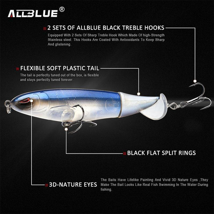 Allblue Whopper Popper 9Cm/11Cm/13Cm Topwater Fishing Lure Artificial Bait-allblue Official Store-Color A-9cm 13g-Bargain Bait Box